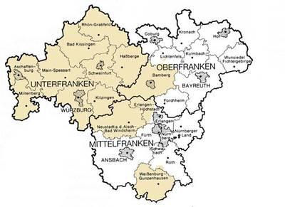 karte franken Rinderzuchtverband Franken e. V.   91522 Ansbach und 97074  karte franken